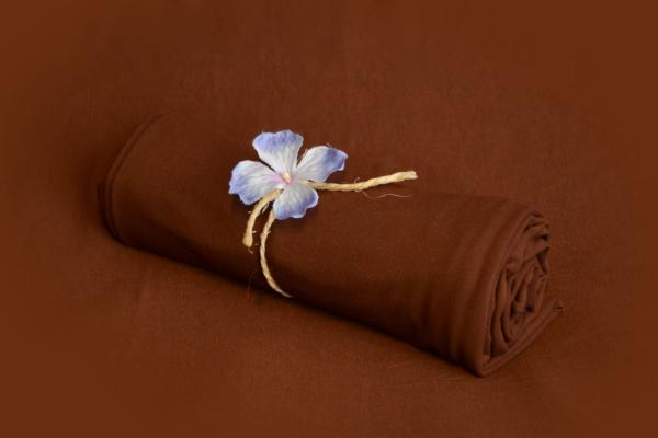 Brown smooth fabric for bean bag