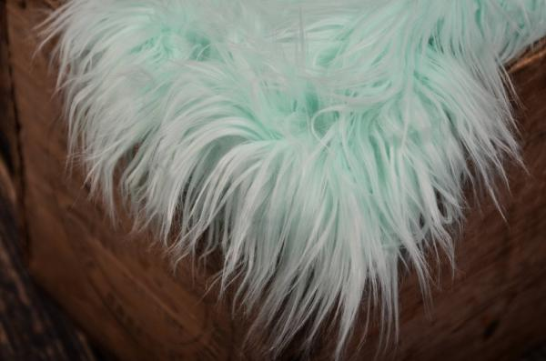 Mint green extra long straight hair blanket