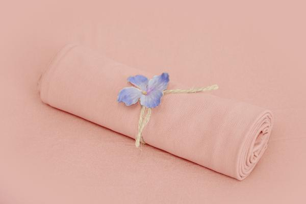 Baby pink smooth fabric