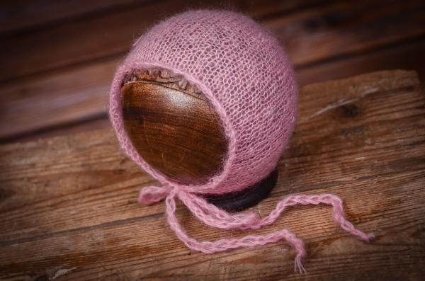 Pink mohair hat
