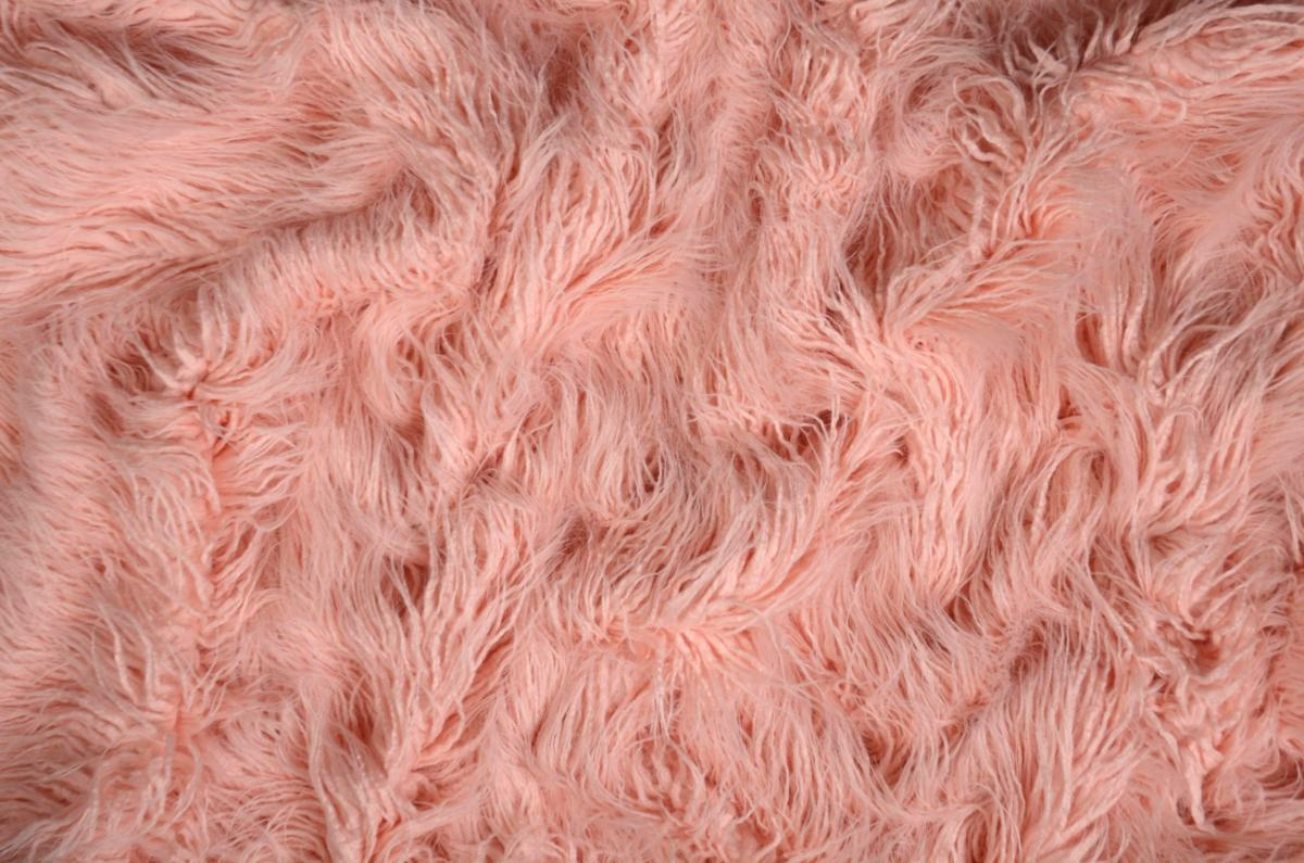 Pink Extra Long Curly Hair Blanket