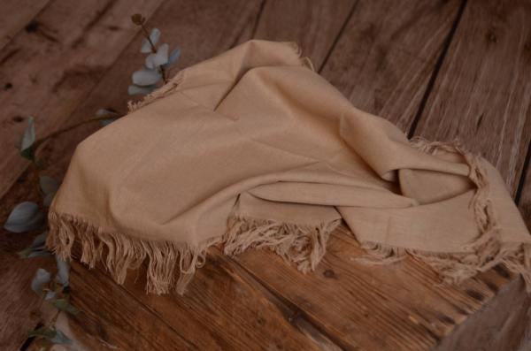 Camel fringed little fabric
