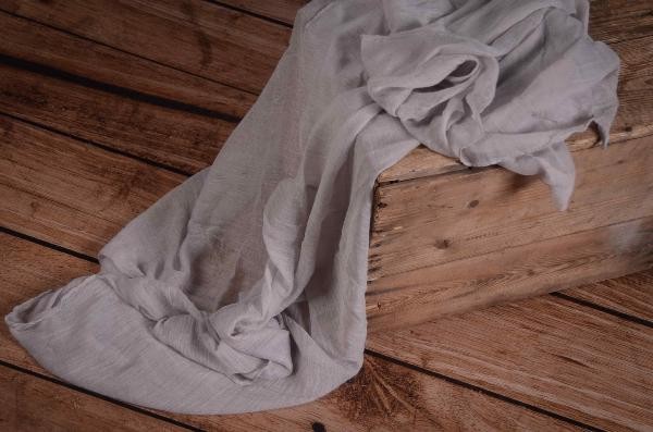 Light grey muslin wrap