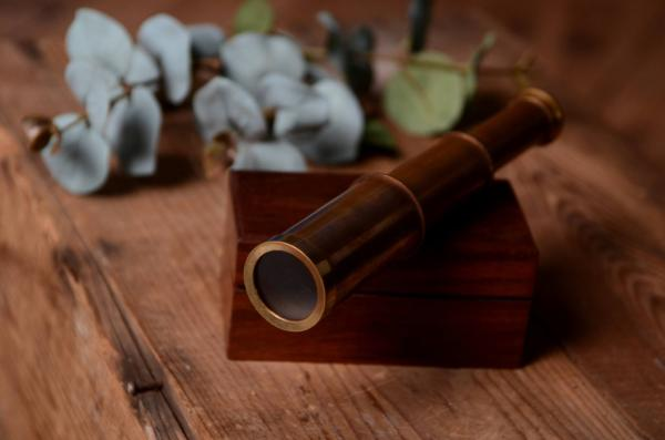 Decorative vintage spyglass