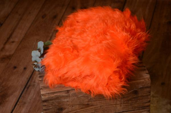 Orange long hair blanket