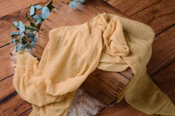 Vanilla yellow cotton wrap