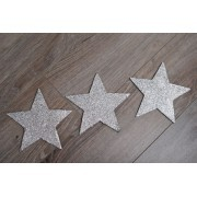 Decorative silver stars 15 cm