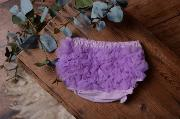 Light lilac ruffled nappy-cover