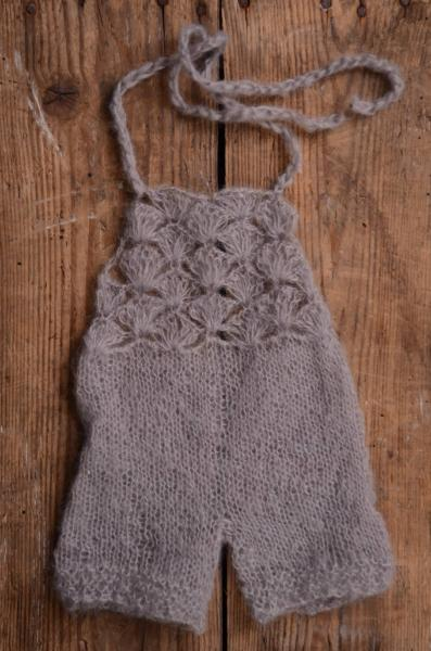 Grey short mohair dungaree