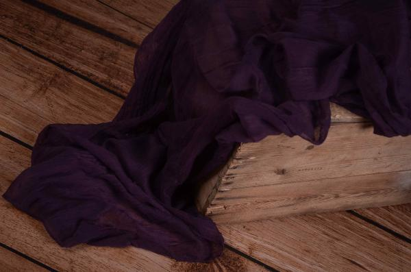 Purple muslin wrap