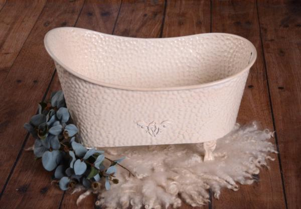 Beige vintage little bathtub 51 cm