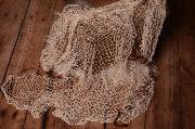 Beige fishing net