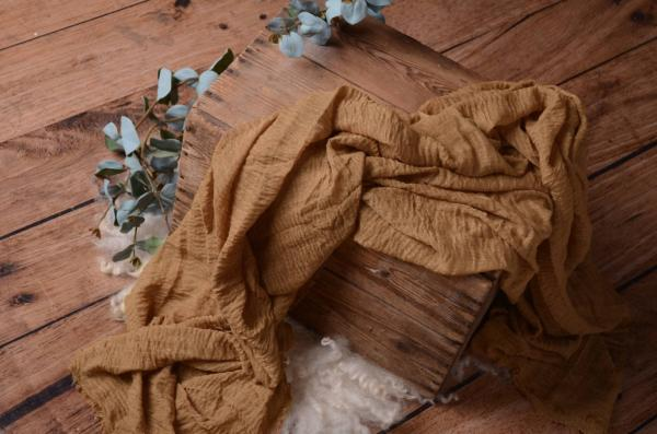 Camel brown cotton wrap