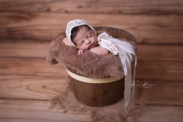Brown rustic bucket 34 cm