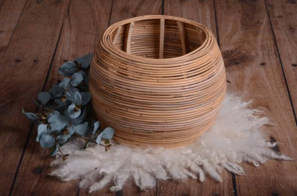 Brown round rustic nest 28 cm