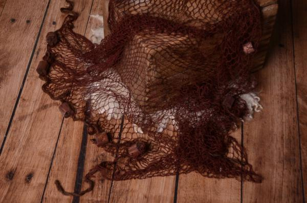 Brown fishing net