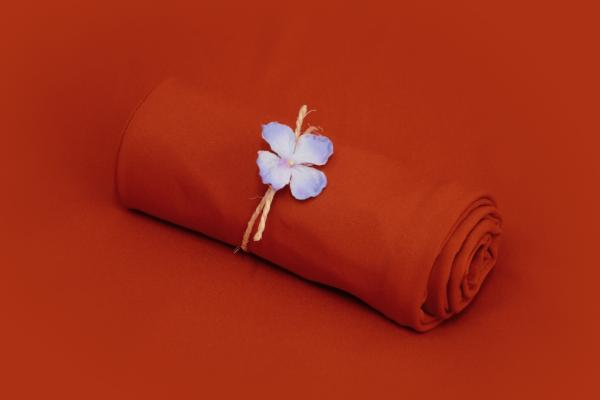 Dark orange smooth fabric
