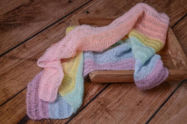 Rainbow mohair wrap