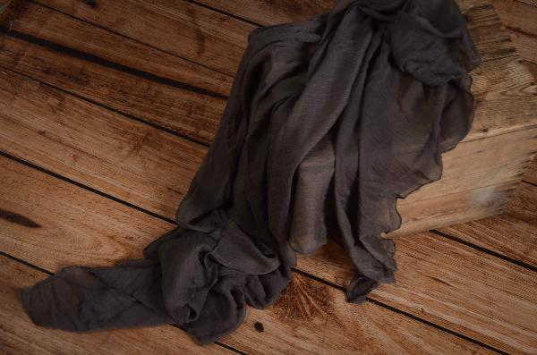 Dark grey muslin wrap
