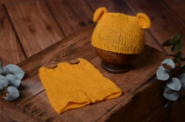 Mustard mohair set with ears