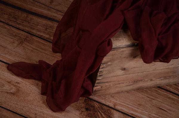 Dark red muslin wrap