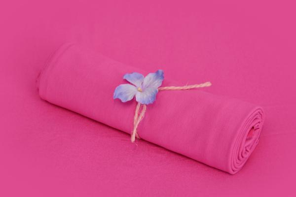 Fuchsia pink smooth fabric