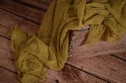 Greenish yellow muslin wrap