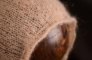 Beige adjustable mohair hat