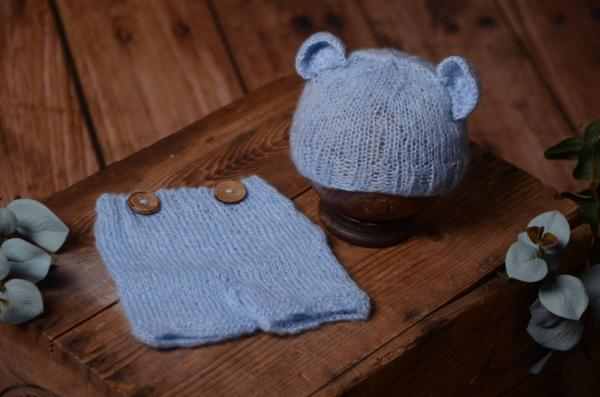 Light blue mohair set with ears