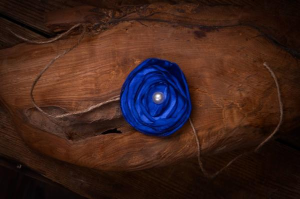 Dark blue flower headband