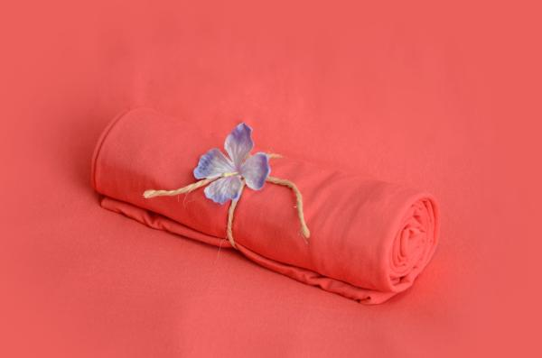 Coral smooth fabric