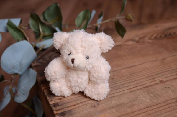 Off-white little bear toy 11 cm