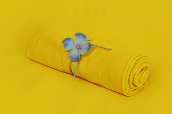 Yellow smooth fabric