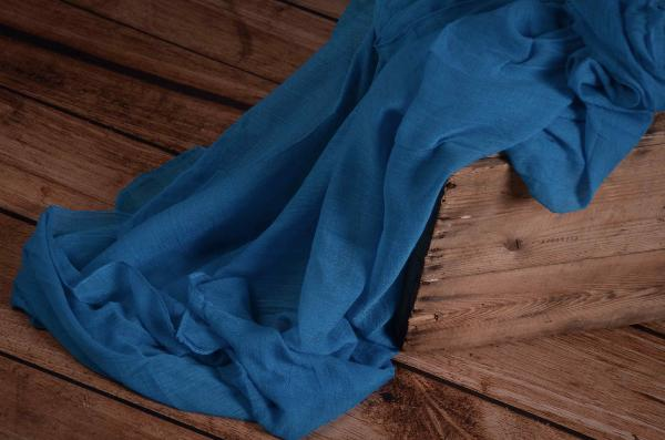 Turquoise muslin wrap