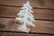 White decorative fir 25 cm