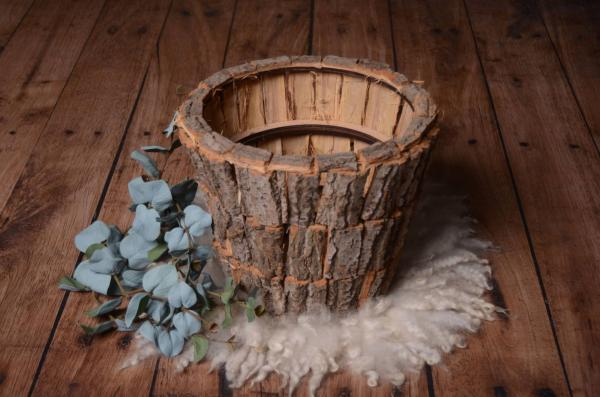 Rustic bowl with trunks 34 cm