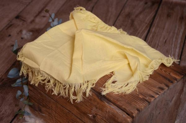 Light yellow fringed little fabric