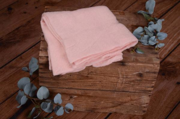 Light pink wool wrap