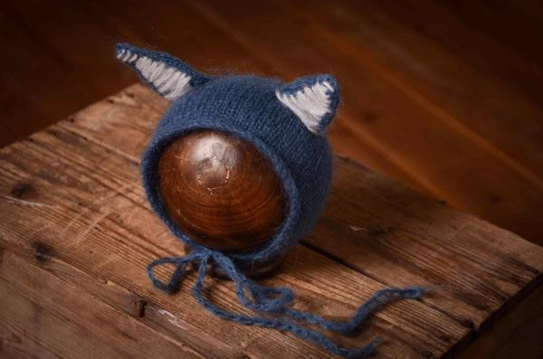 Dark blue cat ears hat