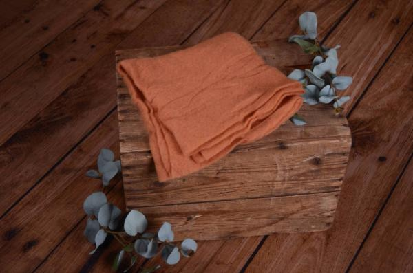 Dark orange wool wrap