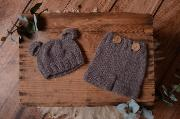 Dark grey mohair set with ears