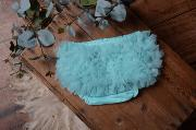 Light aquamarine ruffled nappy-cover