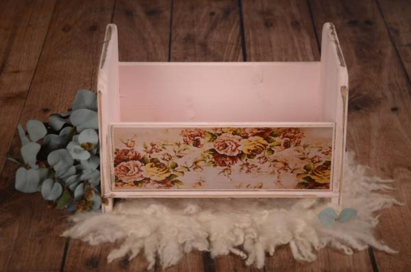Light pink printed rustic cot 41 cm