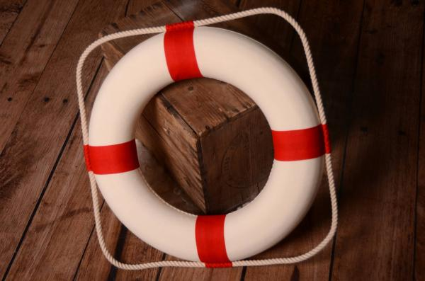 Decorative red life preserver 50 cm