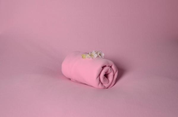 Baby pink polar fabric for bean bag
