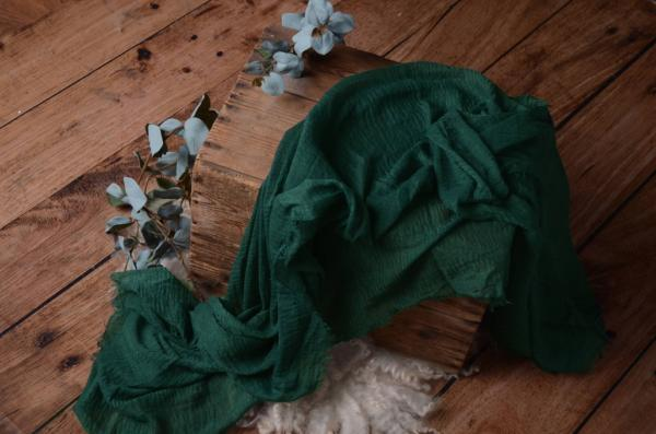 Dark bottle green cotton wrap